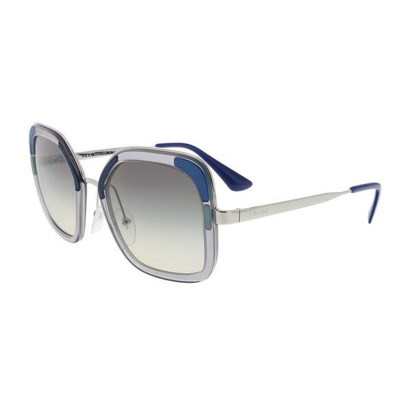 6b8a5e1ea6 Shop Prada PR 57US LMD130 Catwalk Square Sunglasses - 54-22-140 ...