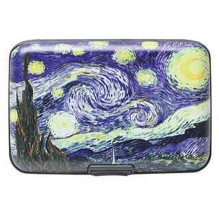 Women's Fine Art Identity Protection RFID Wallet - Starry Night - Medium