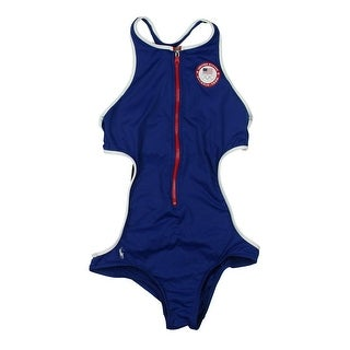 Polo Ralph Lauren Womens One Piece Racerback One-Piece Swimsuit