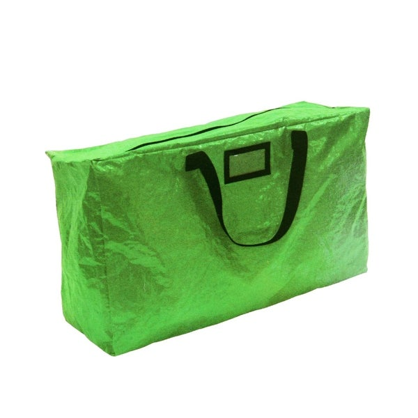 "30"" Green Zip-Up Multi-Purpose Christmas Holiday Storage Bag"