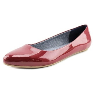 Dr. Scholl's Really Women Pointed Toe Synthetic Burgundy Flats