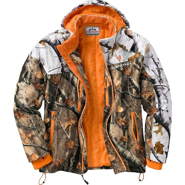 Legendary Whitetails Men's Timber Line Insulated Softshell Camo Jacket - field