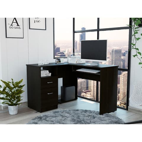 TUHOME Mix L-Shaped Desk