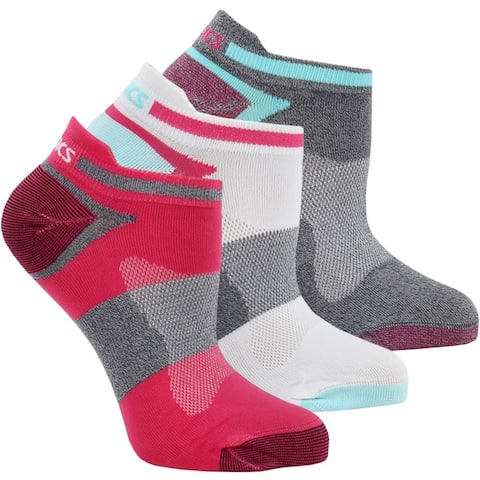 Asics Womens Quick Lyte Single Tab 3-Pack Running Athletic Socks Socks