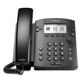 Polycom 220046161001 VVX 310 6-Line Corded VoIP Phone w/ HD Audio,Power Supply Included