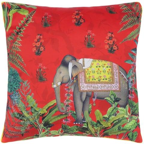 Tribal Rosie Elephant Silk Pillow