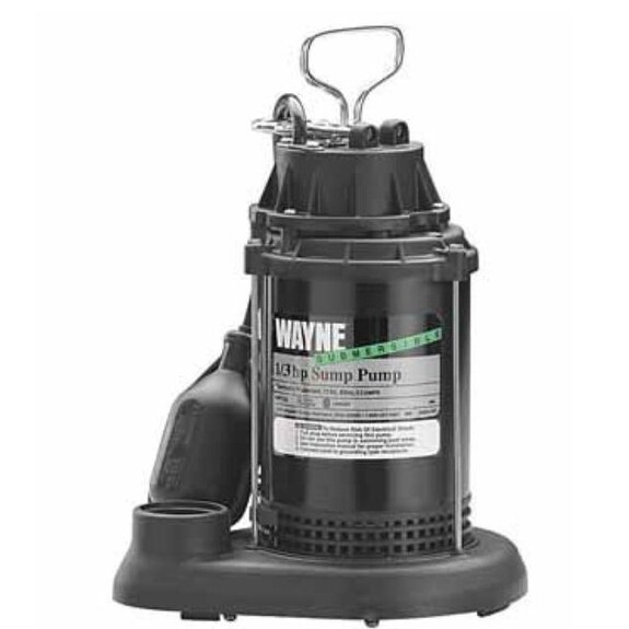 Wayne SPT 33 Submersible Sump Water Pump, 1/3Hp