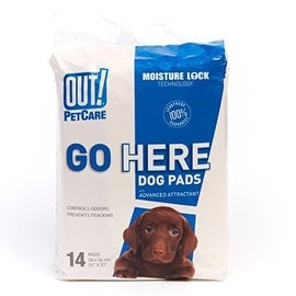 OUT! Moisture Lock Dog Training Pads, 14 count
