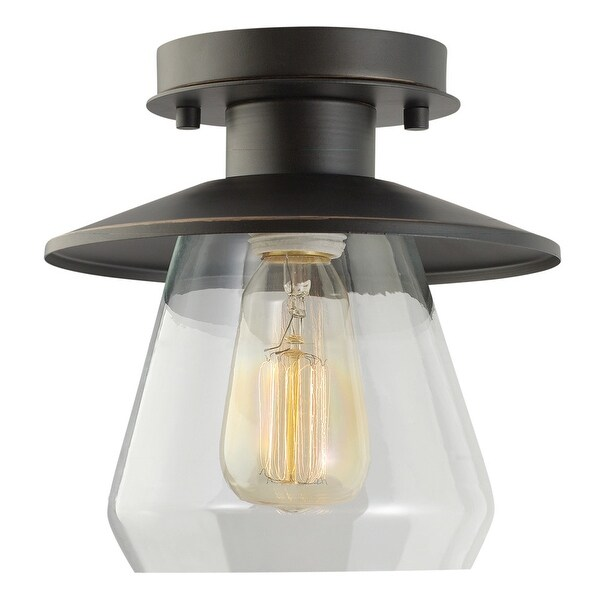 Shop Globe Electric 64846 1 Light Semi Flush Mount Ceiling Light
