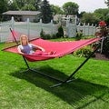Sunnydaze Large 2-Person Rope Hammock with Spreader Bar & Hammock Stand - Thumbnail 8