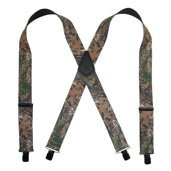 CTM® Men's Big & Tall Elastic Clip End Realtree Camouflage Suspenders - One size