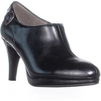 LifeStride Pretty Zip Up Buckle Ankle Boots, Black Tess - 6 w us