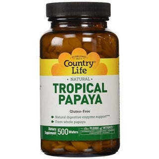 Country Life Natural Tropical Papaya - 500 Chewables