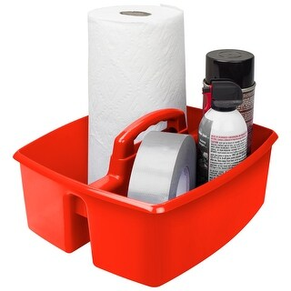 """Red - Storex Large Caddy 13""""X11""""X6.375"""""""