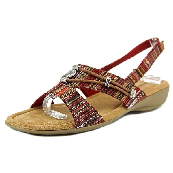 Minnetonka Womens SILVIE Fabric Open Toe Casual Slingback Sandals - 8