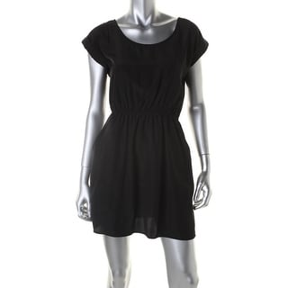 Pink Rose Womens Juniors Dolman Charmeuse Cuff Sleeves Casual Dress - S