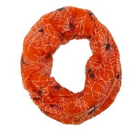 David & Young Women's Spider Web Halloween Holiday Infinity Loop Scarf - One size