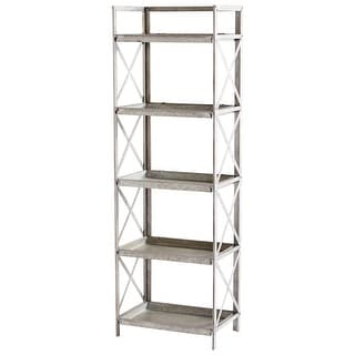 "Cyan Design 09846  Torrance 21-1/4"" Wide 5 Shelf Metal Accent Shelving Unit - Galvanized"