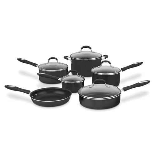 11 Pc. Set In Black Non-Stick Cookware 11 Pc. Set In Black Non-Stick Cookware