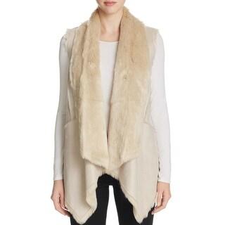 Calvin Klein Womens Outerwear Vest Reversible Open Front