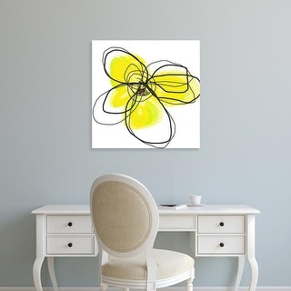 Easy Art Prints Jan Weiss's 'Yellow Petals Two' Premium Canvas Art