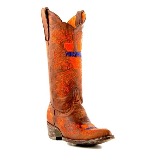 Gameday Boots Womens College Team Virginia Cavaliers Brass