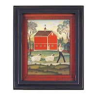 Framed Print Red Wood Sheep 25 1/8 x 21 1/8 Wall Art | Renovator's Supply
