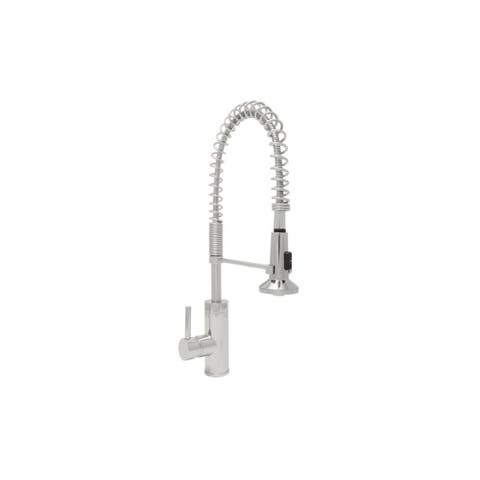 Mirabelle MIRXCPS100 Presidio Pull Down Pre-Rinse Kitchen Faucet with High Arch Coiled Gooseneck Spout -