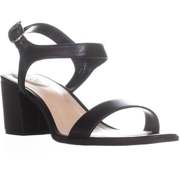 SC35 Mollee Buckle Blck Heel Sandals, Black - 11 us