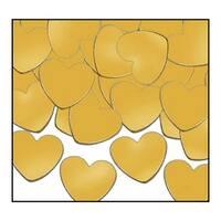 Club Pack of 12 Gold Fanci-Fetti Heart Celebration Confetti Bags 1 oz.