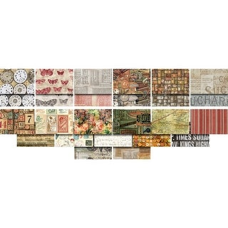 """Eclectic Elements Foundations-Tim Holtz 5""""X5"""" Charm Pack-5"""" Charm Pack"""