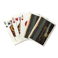 Oakland CA - Nightime City View - LP Photo (Poker Playing Cards Deck)