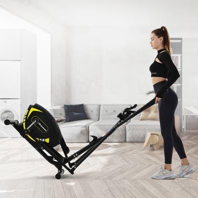 Elliptical Upright Exercise Bike with 8-Level Magnetic Resistance