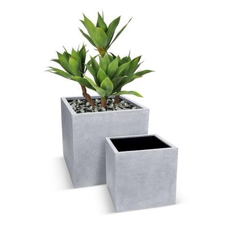 Betona Kube 18 Inch Fiberstone Planter Pot