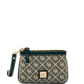 Dooney & Bourke Quilt Medium Wristlet (Introduced by Dooney & Bourke at $58 in Oct 2016) - bl na wh w bl trim
