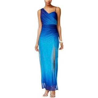 Onyx Nite Womens Formal Dress Glitter V-Neck