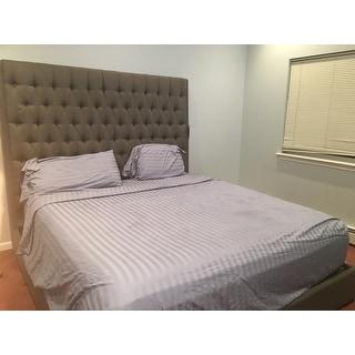 Strick & Bolton Nellie Grey Upholstered Bed