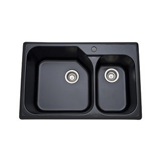 """Rohl 6317 33"""" Allia Double Basin Drop In Fireclay Kitchen Sink with Single Fauce"""