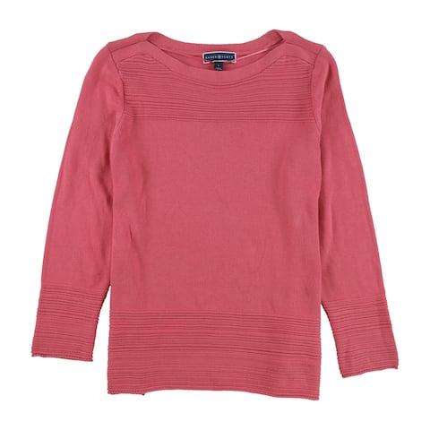 Karen Scott Womens Orchid Pullover Sweater, Pink,