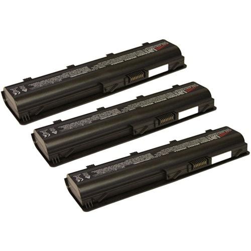 Replacement 4400mAh HP 586006-361 Battery For HSTNN-Q62C / MU06 / NBP6A174B1 Laptop Models (3 Pack)