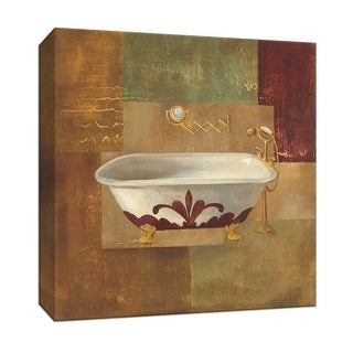 """PTM Images 9-152797  PTM Canvas Collection 12"""" x 12"""" - """"Old Charleston Tub I"""" Giclee Tubs Art Print on Canvas"""