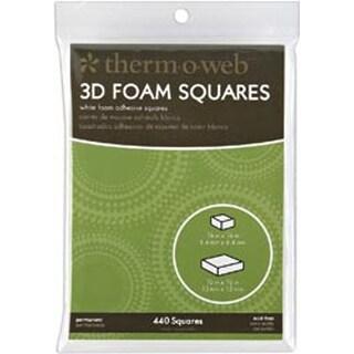 """White (352) .25"""" & (88) .5"""" 440/Pkg - 3D Foam Squares Combo Pack"""