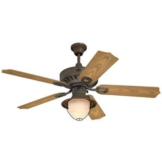 Westinghouse 7209800 Lafayette LED Single Light 5 Blade LED Hanging Ceiling Fan with Reversible Motor, Blades, Light Kit and