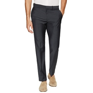 Theory Marlo Blenheim Slim Fit Flat Front Dress Pants Smoke Cloud Grey