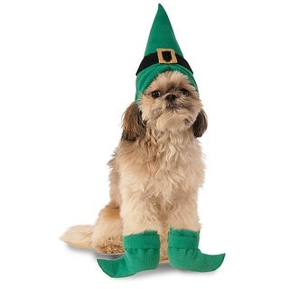 Elf Hat w/ Boot Cuffs Dog Costume