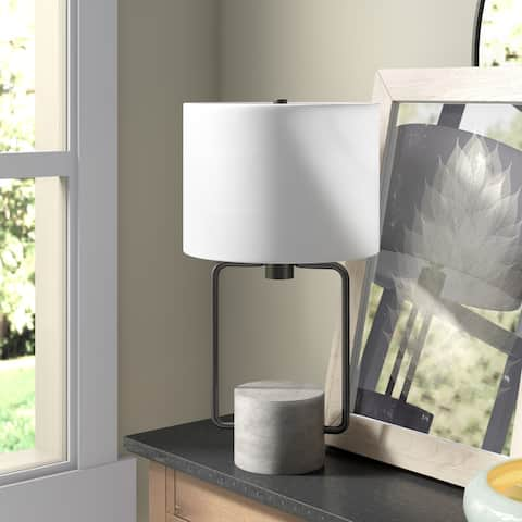 Howland Table Lamp Blackened Bronze and Concrete