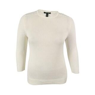Ralph Lauren Women's Lace Trim 3/4 Sleeves Sweater - xL