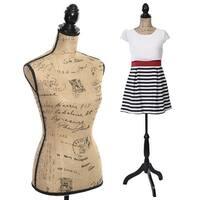 Costway Female Mannequin Torso Dress Form Display W/ Black Tripod Stand New