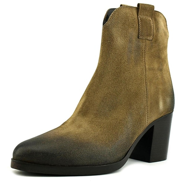 VC Signature Mimi Round Toe Leather Bootie