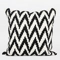 "G Home Collection Luxury Black And White Big Chevron Pattern Throw Pillow 20""X20"" - Thumbnail 0"